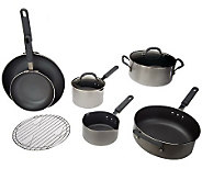 CooksEssentials 9-Piece Cookware Set w/ Color Smart Nonstick - K37437