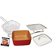 Red Copper 5-pc 10 Square Pan Set - K375637