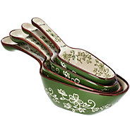 Temp-tations Set of 4 Floral Lace Scoop & Measure Spoons - K44537