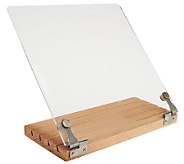 As Is Beechwood Foldable Cookbook Holder w/Acrylic Cover - K307338