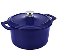 Rachael Ray 5qt Round PorcelainEnamel Cast Iron Dutch Oven - K41638