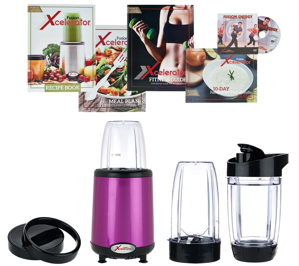 Fusion Xcelerator 1000W Blender with Travel Cups & Recipe