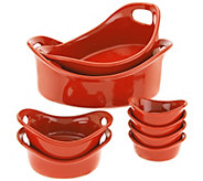 Rachael Ray Bubble & Brown 8-piece Round Bakeware Set - K44838