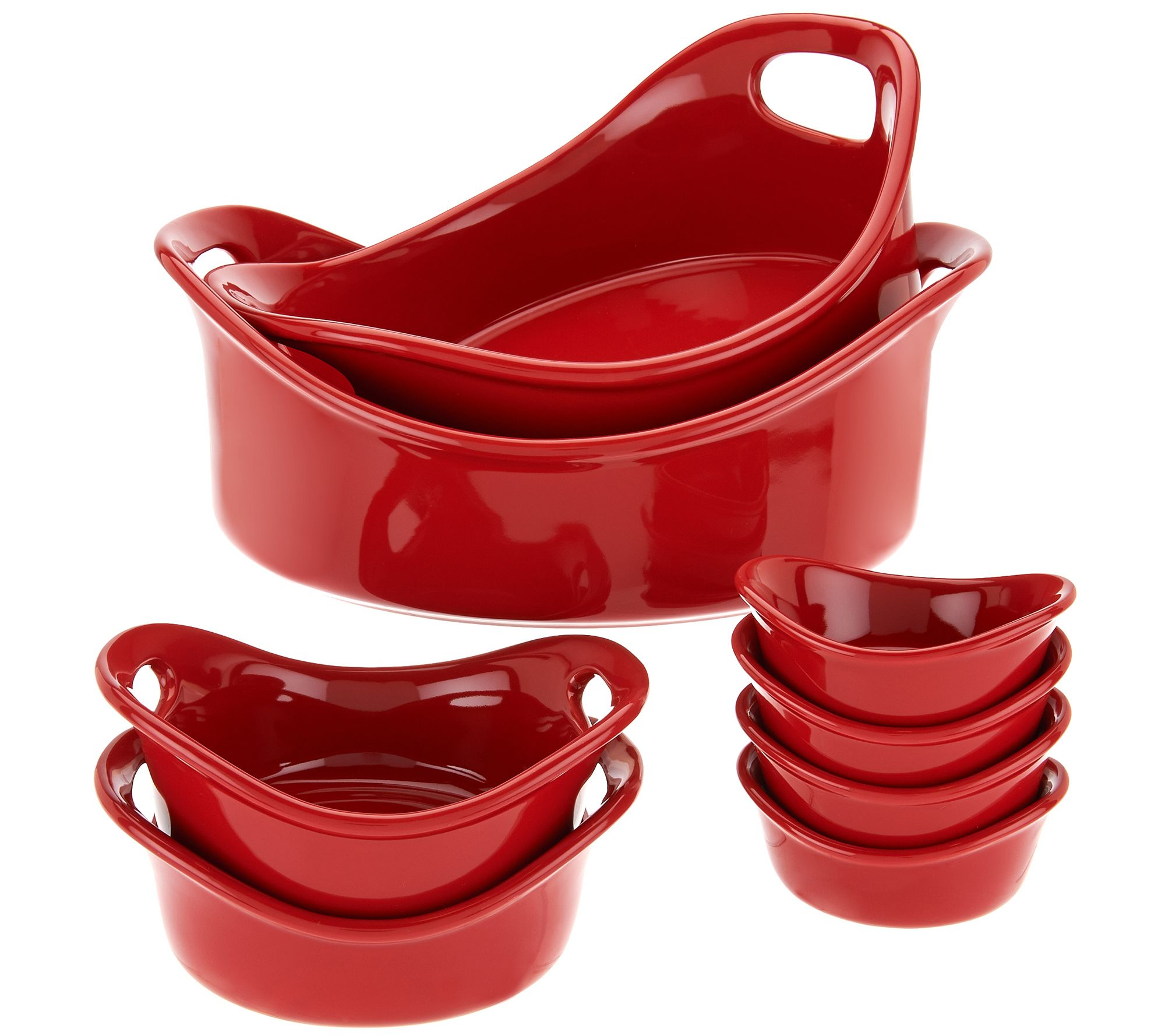 rachael ray bubble u0026 brown 8piece round bakeware set page 1 u2014 qvccom - Bakeware Sets