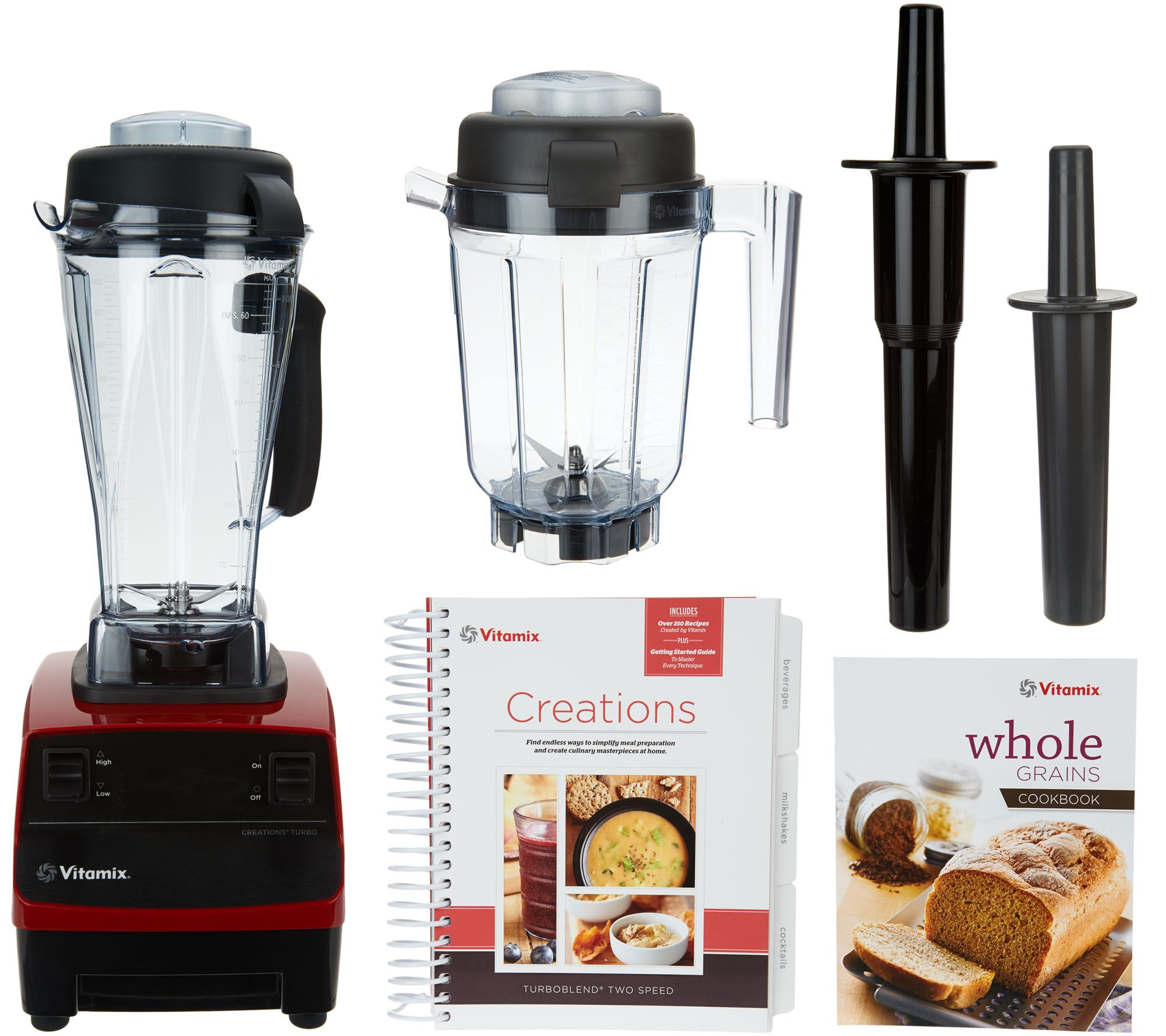 vitamix turbo blend 16in1 64oz 2speed blender w 32oz dry container page 1 u2014 qvccom - Vitamix Accessories
