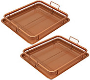 Copper Chef 4-pc Ceramic Nonstick Copper Crisper - K45838