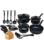 Gibson Home Total Kitchen 32-Piece Nonstick Cookware Set - K303939