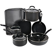 As Is Circulon 13 pc. Hard Anodized Dishwasher Safe Cookware Set - K307439