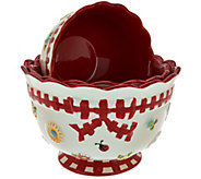 As Is Temp-tations S/3 Gingham Garden Nesting Bowls - K307539