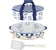 As Is Temp-tations Old World 3qt Pack n Go Baker & Tote - K308039