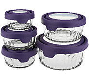Anchor Hocking 5-pc. Embossed Glass Food Storage Set w/ True Seal Lids - K40039