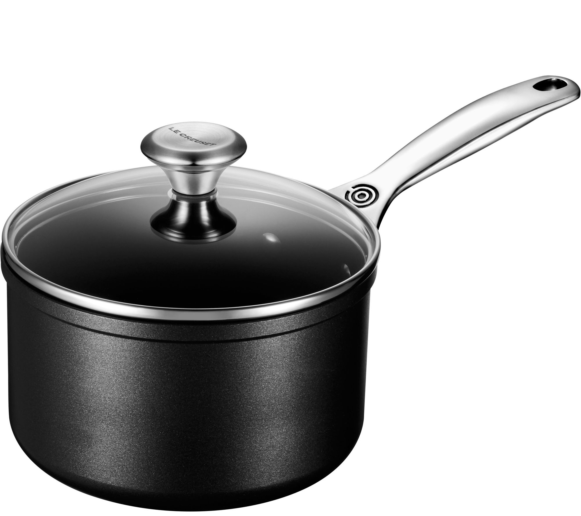 le creuset nonstick 2 qt saucepan with glass lid. Black Bedroom Furniture Sets. Home Design Ideas