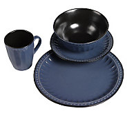 Tabletops Gallery Blue Beads 16-Piece Dinnerware Set - K299841