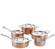 Cuisinart 9-Pc Hammered Copper Tri-Ply Stainless Cookware Set - K376141