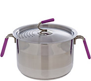 Kuhn Rikon 6 qt. Straining Stock Pot with Basket - K42941
