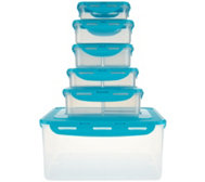 Lock & Lock 6-piece Rectangle Storage Set