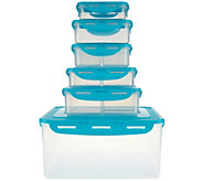 Lock & Lock 6-piece Rectangle Storage Set - K43741