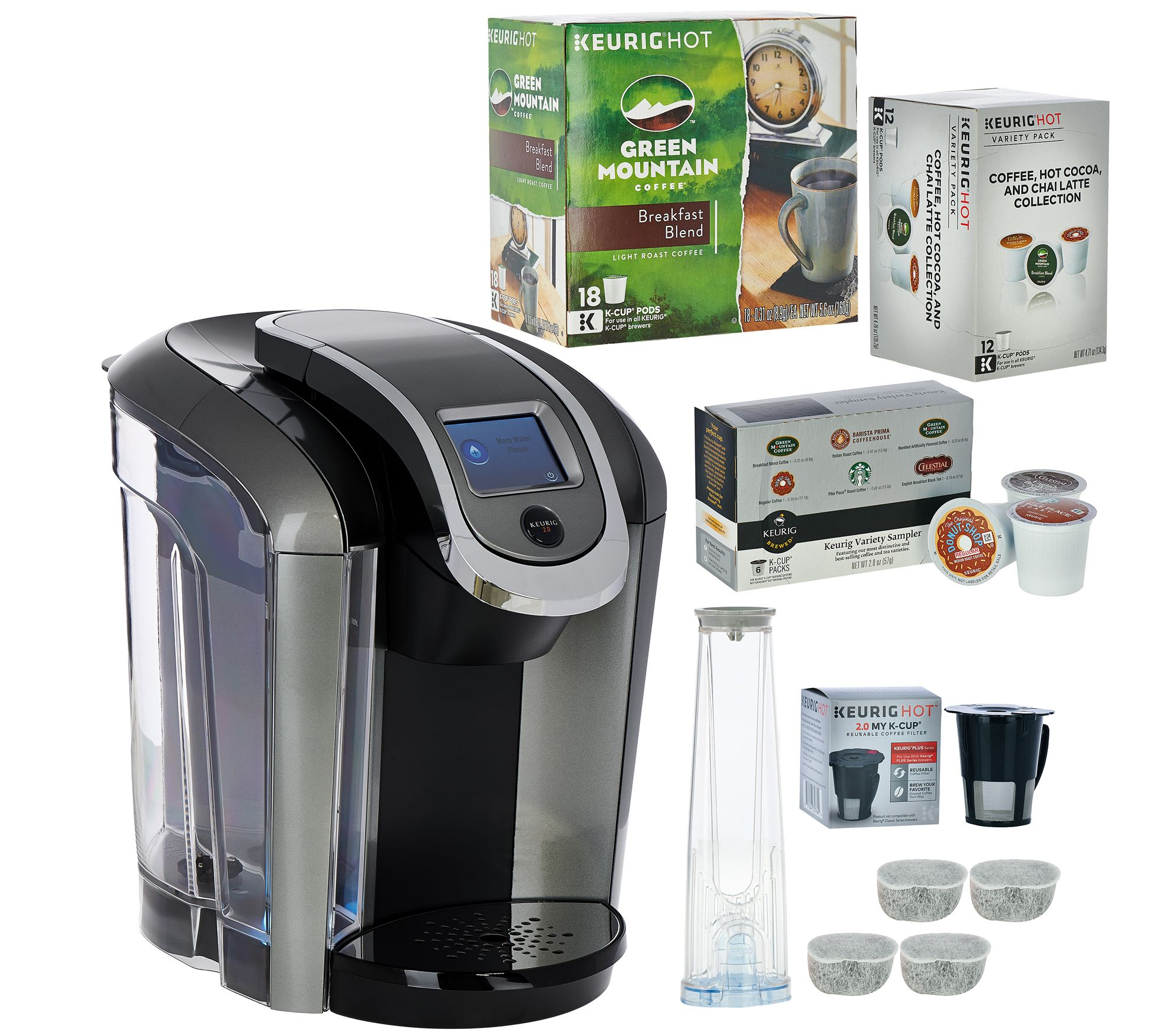 Coffee Maker That Uses Pods And K Cups : Keurig 2.0 K575 Coffee Maker w/ My K-Cup & 36 K-Cup Pods - Page 1 QVC.com