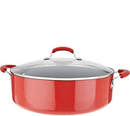 Rachael Ray 10qt Porcelain Enamel Covered Family Pan - K46541