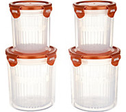 Lock & Lock 4 Piece Straining Container Storage Set - K47041