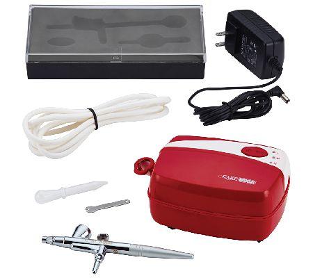 Cake Boss Decorating Tools Airbrushing Kit, Red   QVC.com