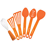 Rachael Ray Tools 6-Piece Tool Set - Orange - K304342