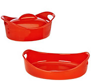 As Is Rachael Ray 3qt. Oval Baker & 2.5 qt. Covered Oval Casserole - K307442