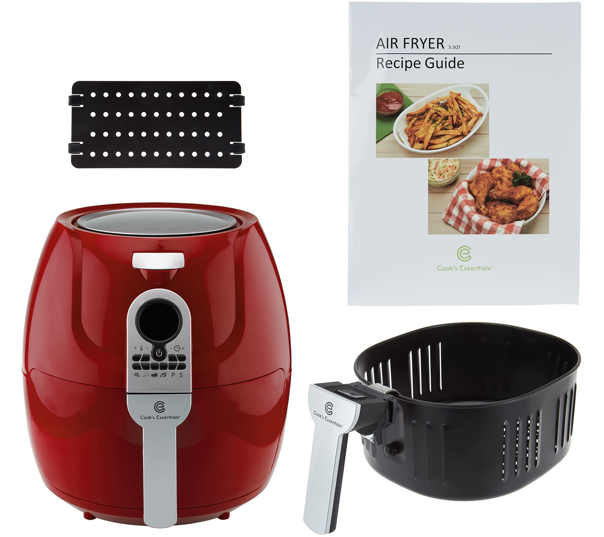 Cooks Brand Kitchen Appliances Cooksessentials 53qt Digital Air Fryer W 6 Presets Divider