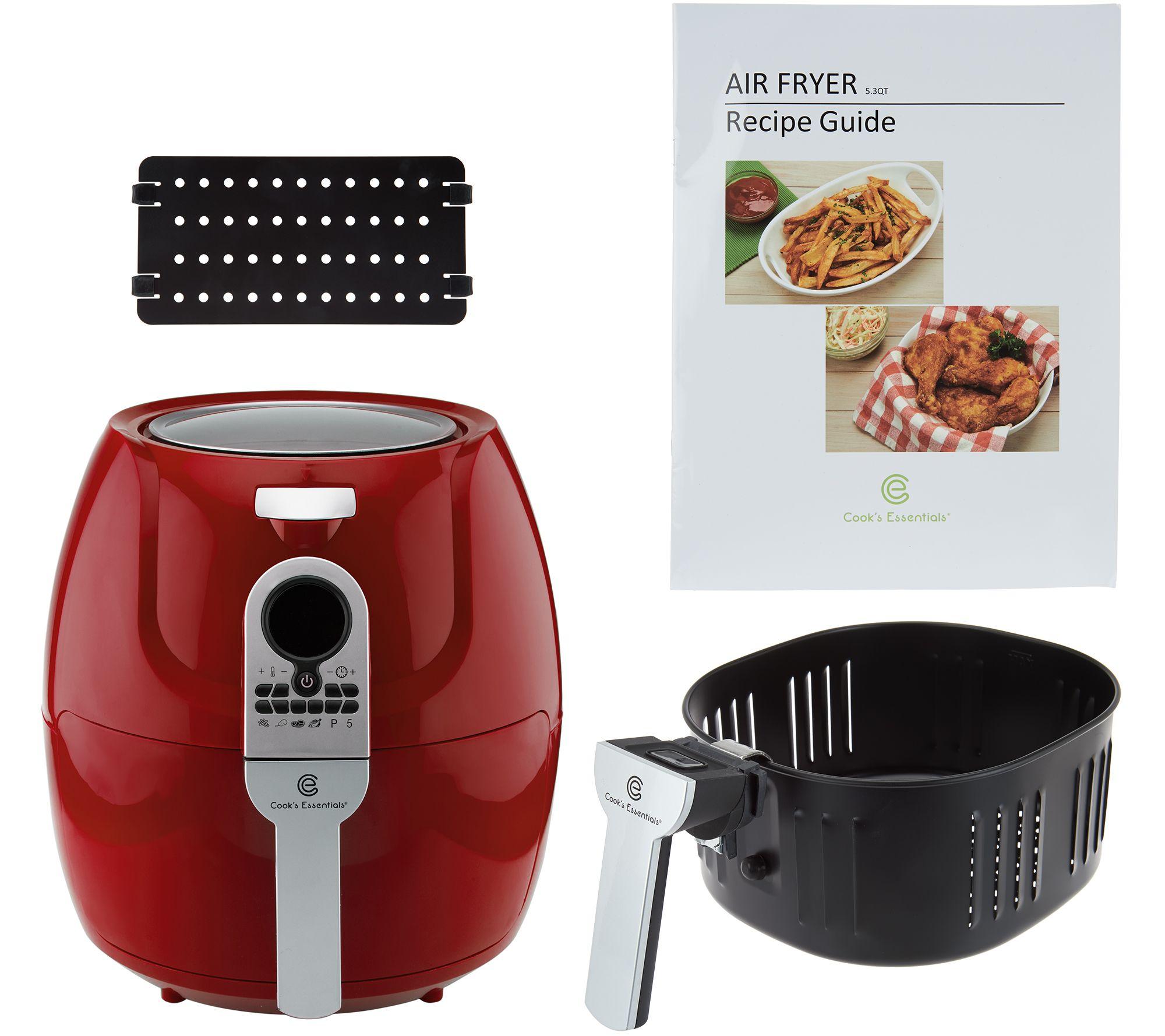 Deep Fryers 5 2L Digital XL Air Fryer Piece Accessory Set Recipe Book Cooking