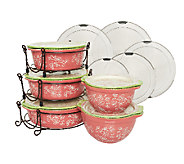As Is Temp-tations 13-Pc Floral Lace Round Baker Set - K294143