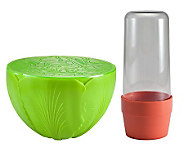 Gourmac Herb Saver and Salad Saver Set - K301543