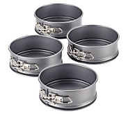 Cake Boss Specialty 4-Piece Nonstick Mini Spring Form Pan Set - K302443