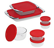 Pyrex Bake n Store 14-Piece Set with Handles - K305743