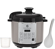 As Is Cooks Essentials 4 qt.Digital Stainless Steel Pressure Cooker - K307443