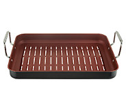 CooksEssentials 16x12 Nonstick Rectangle BBQ Grill Pan - K40443