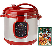 CooksEssentials 6 qt. Round Digital Stainless Steel Pressure Cooker - K41143