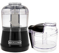 KitchenAid 3.5 Cup One-Touch 2-speed Chopper with Extra Bowl - K44343