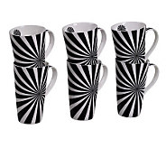 Tabletops Gallery Set of 6 18-Oz Mugs - Nova - K299044