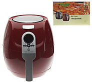 Cooks Essentials 3 qt. 1400 Watt Air Fryer with Recipe Book - K43144