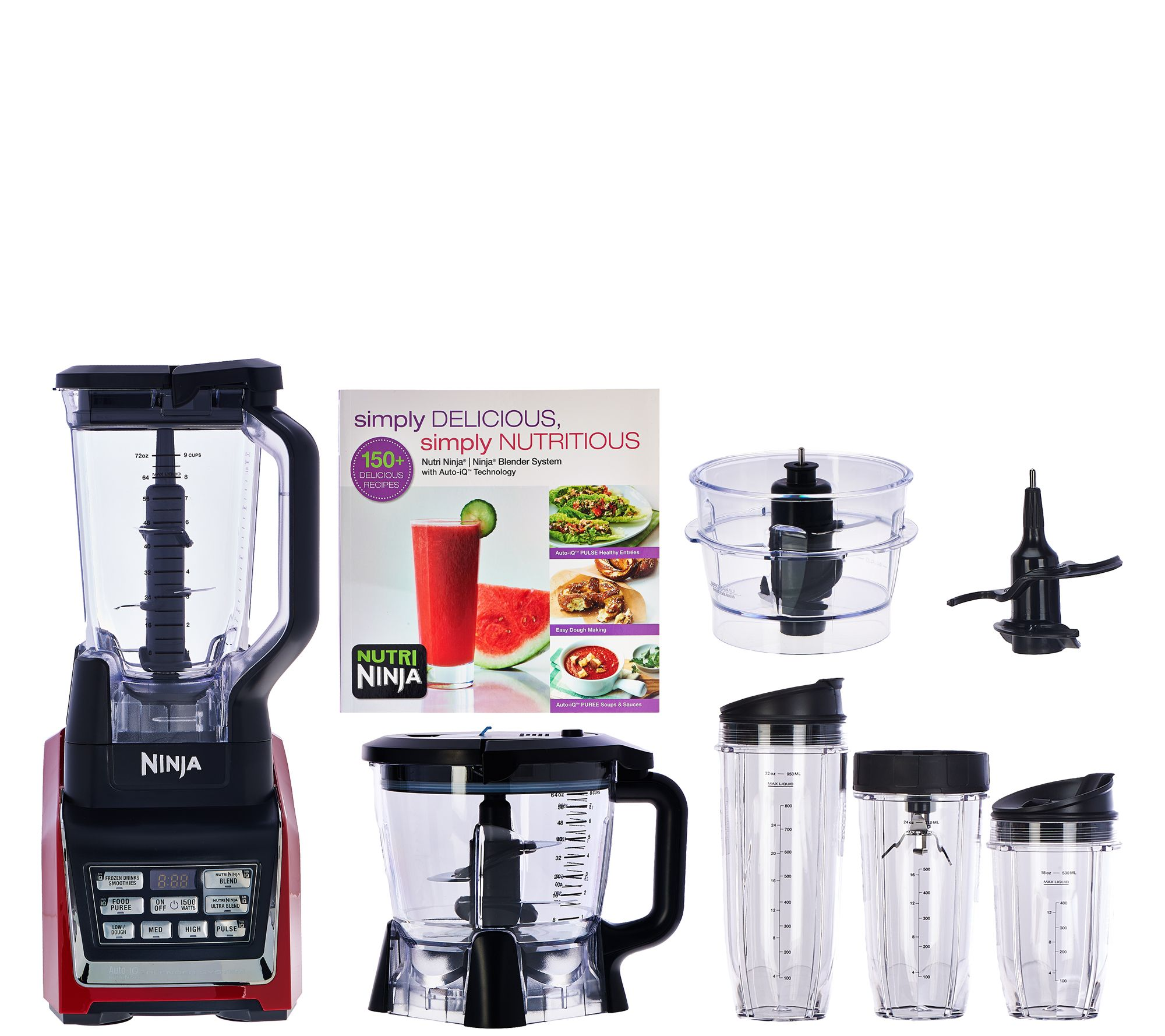 Uncategorized Ninja Kitchen Appliances nutri ninja 72oz 1500w mega kitchen system w auto iq prep bowl page 1 qvc com
