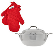 All-Clad Tri-Ply 5.5 Qt Dutch Oven with Oven Mitts - K44544