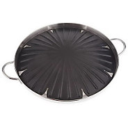 As Is Cooks Essentials Polished Aluminum 14 Round Grill Pan - K287645