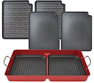As Is Cooks Essentials 7 pc BBQ GrillPan with/ Removable Nonstick Plates - K307345