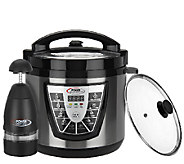 Power Pressure Cooker XL Black 6 qt. Digital w/ Glass Lid & Power Chopper - K41645