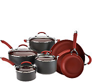 CooksEssentials 10-Piece Hard Anodized Dishwasher Safe Cookware Set - K42345