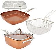 Copper Chef 9.5 Square Saute Pan, 9.5 Skillet & Accessories - K46145