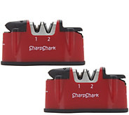 Sharp Shark Set of 2 Deluxe Knife & Scissor Sharpeners - K46445