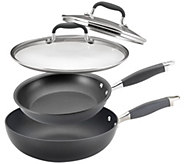 Anolon Advanced 4-Piece Covered Skillet & Stir Fry Pan Set - K304646
