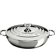 Le Creuset Stainless Steel 5 qt Braiser with Lid - K306446