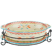 Temp-tations Old World 2.5qt Baker w/ Lid-it Rack and Storage Cover - K41646